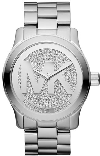 MICHAEL Michael Kors Michael Kors 'Runway' Logo Dial Bracelet Watch, 45mm