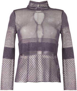 Mame Kurogouchi High Neck Mesh Top