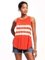 Old Navy High-Neck Tie-Dye Swing Tank for Women