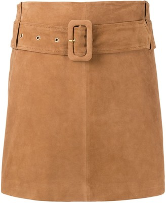 Arma belted A-line skirt