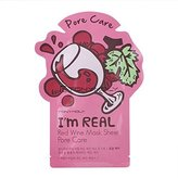 Tony Moly Tonymoly I'm Real Skin Care Facial Mask Sheet Package (Red Wine - Pore Care 10 Sheets)