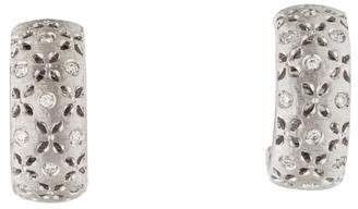 Roberto Coin 18K Diamond Granada Hoop Earrings