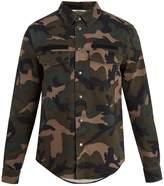 Valentino Detachable-hood camouflage-print field jacket