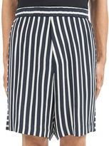 McQ Striped Relaxed Fit Shorts