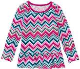 Gymboree Pink & Blue Zigzag Peplum Top - Girls