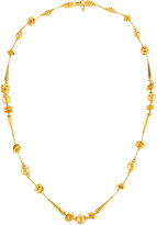 Jose & Maria Barrera Long Golden Beaded Necklace