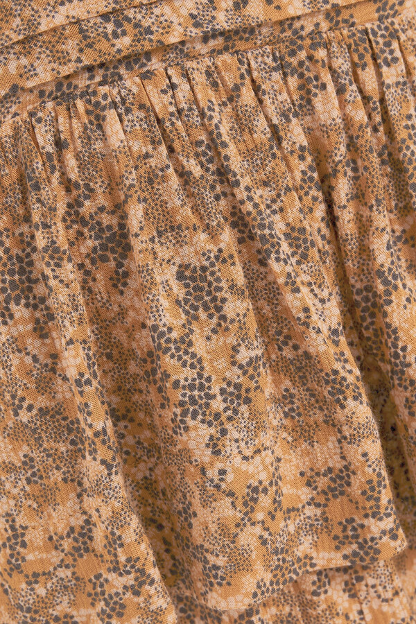 Thumbnail for your product : BA&SH Nina Tiered Printed Crepe Mini Dress