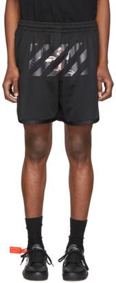 Off-White Off White Black Mesh Caravaggio Arrows Shorts