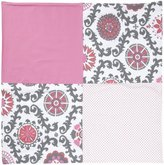 New Arrivals Inc. New Arrivals Ragamuffin In Pink Crib Blanket-Hot Pink & Gray