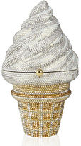 Judith Leiber Couture Crystal Strawberry Twist Ice Cream Cone Clutch Bag
