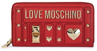 Love Moschino Studded Logo Continental Wallet