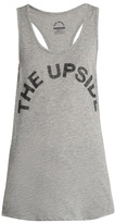 The Upside Logo-print racer-back tank top