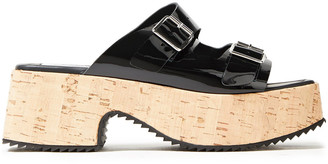 McQ Buckled Patent-leather Platform Sandals