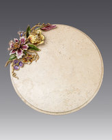 Jay Strongwater Floral Cheese Board
