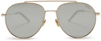 Mulberry Tony Pilot Sunglasses Gold and Silver Metal