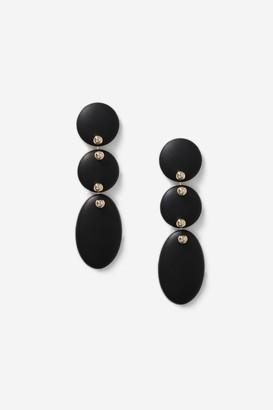Topshop 3 Drop Black Coated Earrings