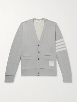 Thom Browne Striped Loopback Cotton-Jersey Cardigan