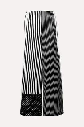 adidas Striped Satin-jersey Track Pants - Black