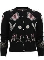 Alexander McQueen Butterfly Crop Cardigan