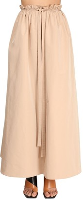 Givenchy Cotton Blend Taffeta Maxi Skirt