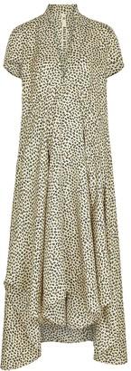 Petar Petrov Amaris Leopard-print Silk Midi Dress