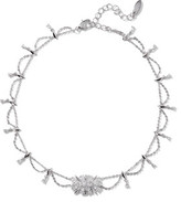 Noir Silver-Tone Crystal Necklace