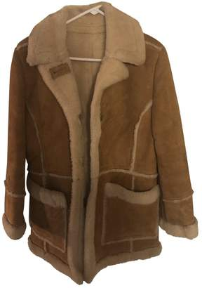 No Name Camel Suede Coat for Women