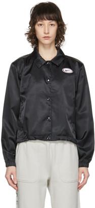 Nike Black Satin Sportswear Jacket