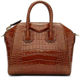 Givenchy Brown Croc Mini Antigona Bag