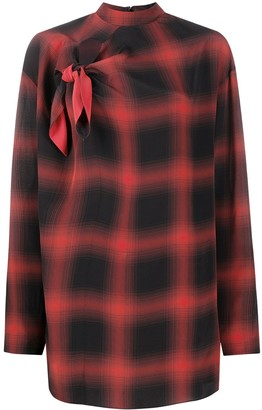 Stella McCartney Zadie check silk blouse