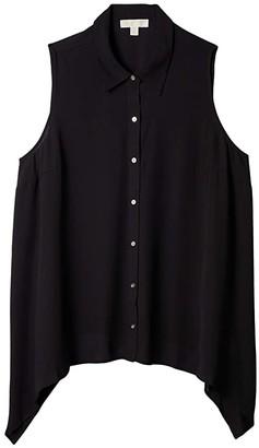 MICHAEL Michael Kors Size Sleeveless Hank Hem Top (Black) Women's Clothing