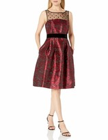 Eliza J Women's Rose Print Fit & Flare Dress