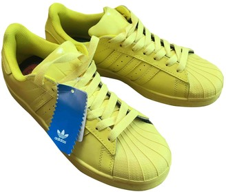 adidas Superstar Yellow Leather Trainers