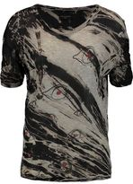 Enza Costa Printed Modal-Blend Top