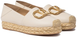 Valentino VLOGO leather espadrilles