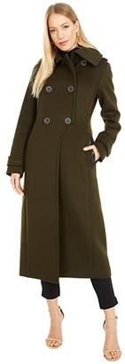 Mackage Elodie Wool Coat (Navy) Women's Clothing