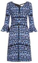 Goat Cristiana petal-print crepe dress