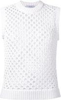 Carven open knit top - women - Cotton/Nylon - XS
