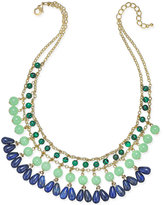 Charter Club Gold-Tone Beaded Drama Necklace, Only at Macy's