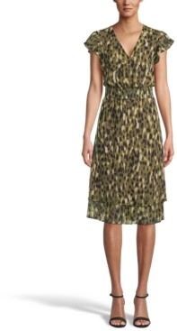 Bar III Printed Tiered Midi Dress, Created for Macy's