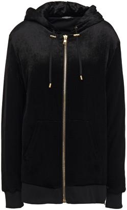 Balmain Velvet Hooded Jacket
