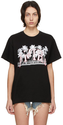 Amiri Black Varsity Palms T-Shirt