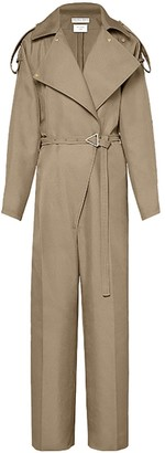 Belted Trench Jumpsuit