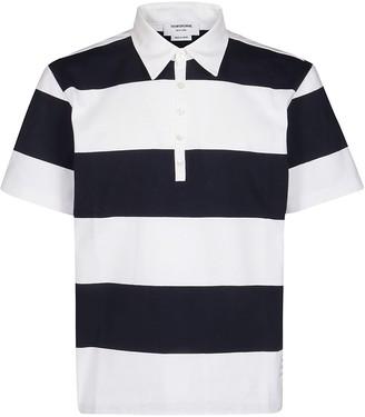 Thom Browne Horizontal Stripes Polo Shirt