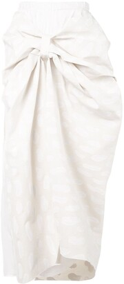 Marni knot detail skirt
