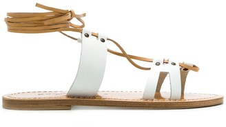 Solange Multi-Strap Ankle Tie Sandals