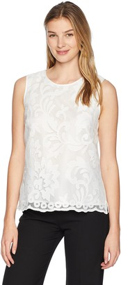Kasper Women's Floral LACE Detailed CAMI