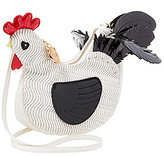 Betsey Johnson Rooster Woven Cross-Body Bag