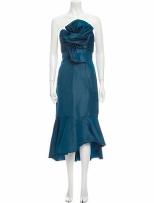 Johanna Ortiz Silk Midi Length Dress w/ Tags Blue