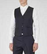Reiss Marvel W Checked Wool Waistcoat